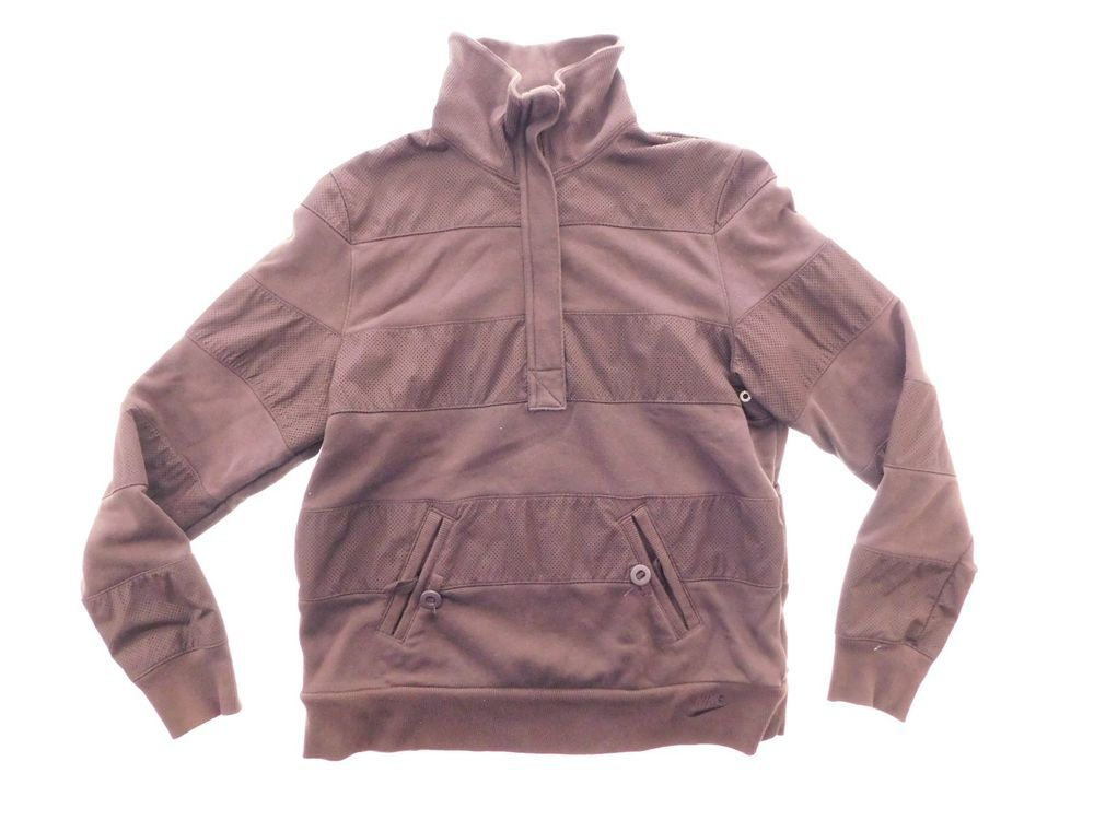 5335563a6580 Nike Boys Youth Jacket Size L Large Brown Collar 1 2 Zip Button Pockets  Pullover  Nike  Jacket  Everyday