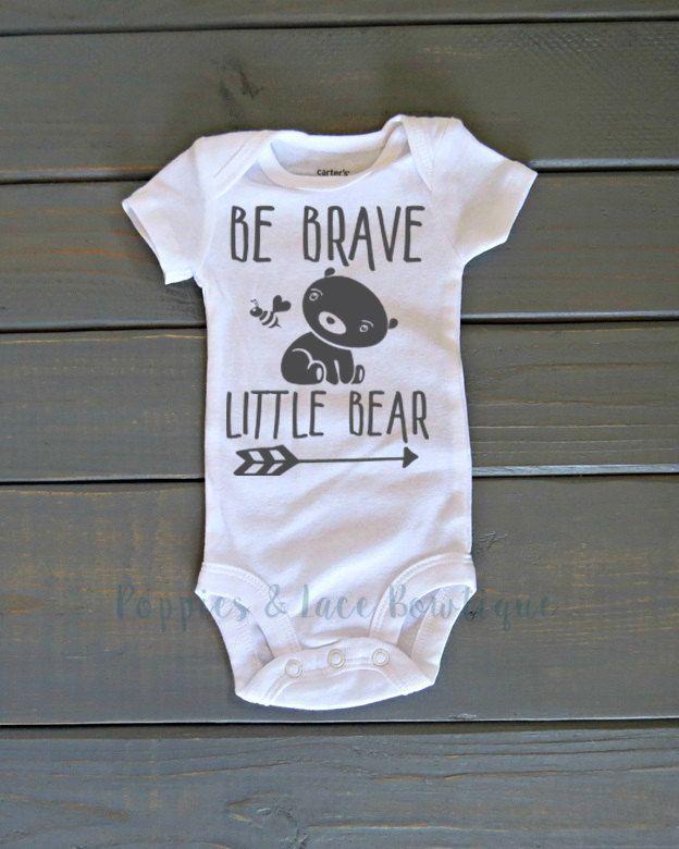 Be Brave Little Bear esie Uni Kids Clothing Baby