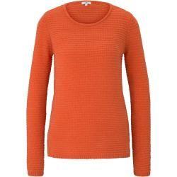 Photo of Strickpullover für Damen von Tom Tailor mit strukturiertem Stoff, orange, Größe M Tom TailorTom Tailor