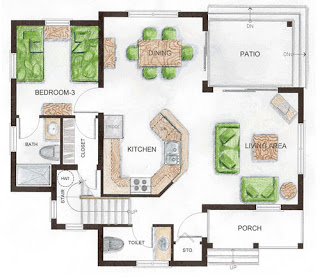 Pendidikan Seni Visual Reka Bentuk Hiasan Dalaman Floor Plans Cottage Floor Plans House Floor Plans