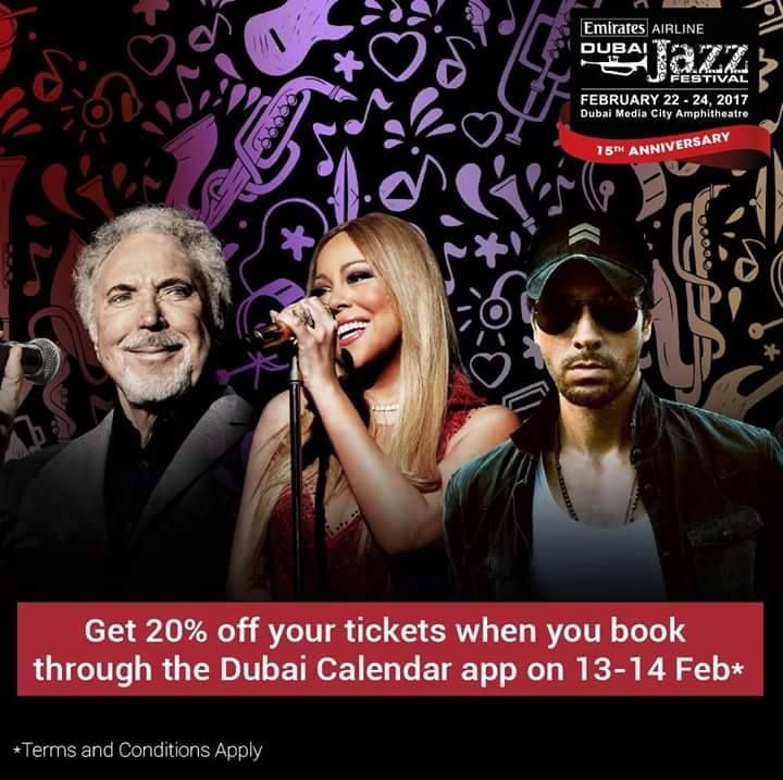 Treat Your Valentine To A Star Studded Lineup Like No Other For 48 Hours Only Get 20 Off Tickets To Dubaijazzfest When You Book Via Our App Give Your Spec