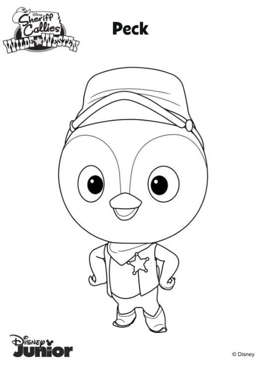 sheriff callie coloring pages coloring page Sherrif Callie   peck … | Party items | Pinterest  sheriff callie coloring pages