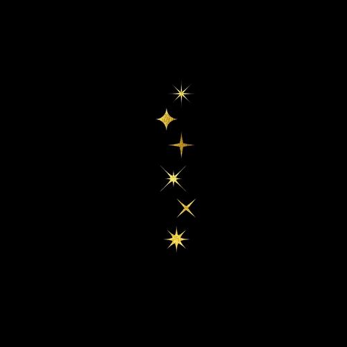 Goldsin Tattoos Shining Night Stars Aur 24k Stars At Night Star Tattoos Tattoos