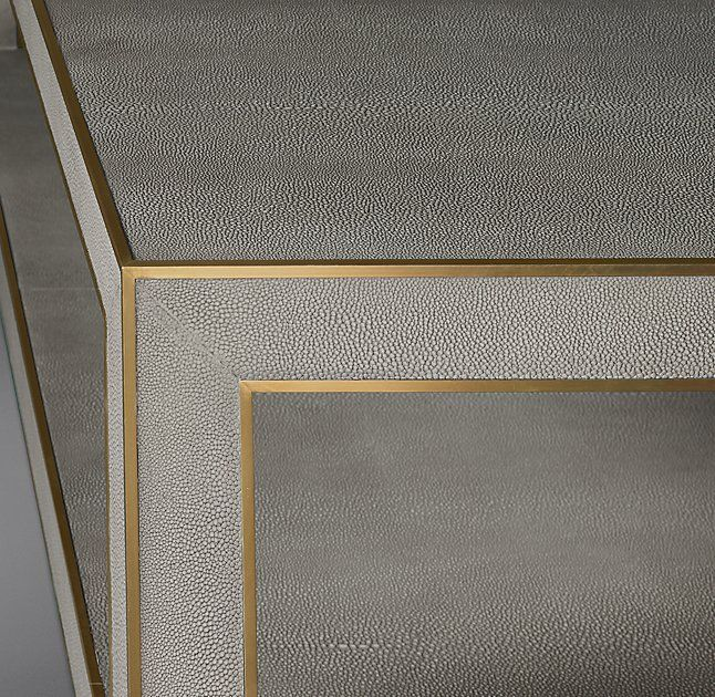 Cela Shagreen Square Coffee Table Shagreen Coffee Table