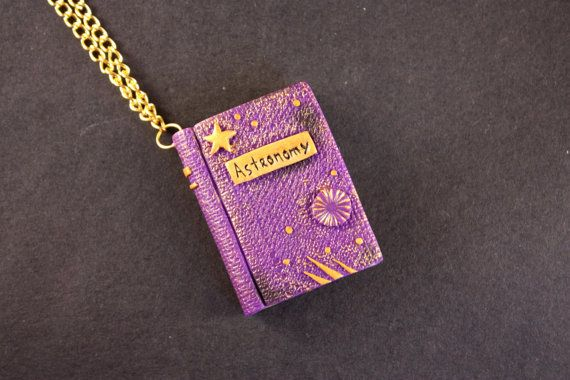 Miniature magic book wizards book spell book by MerryGreenKiwi