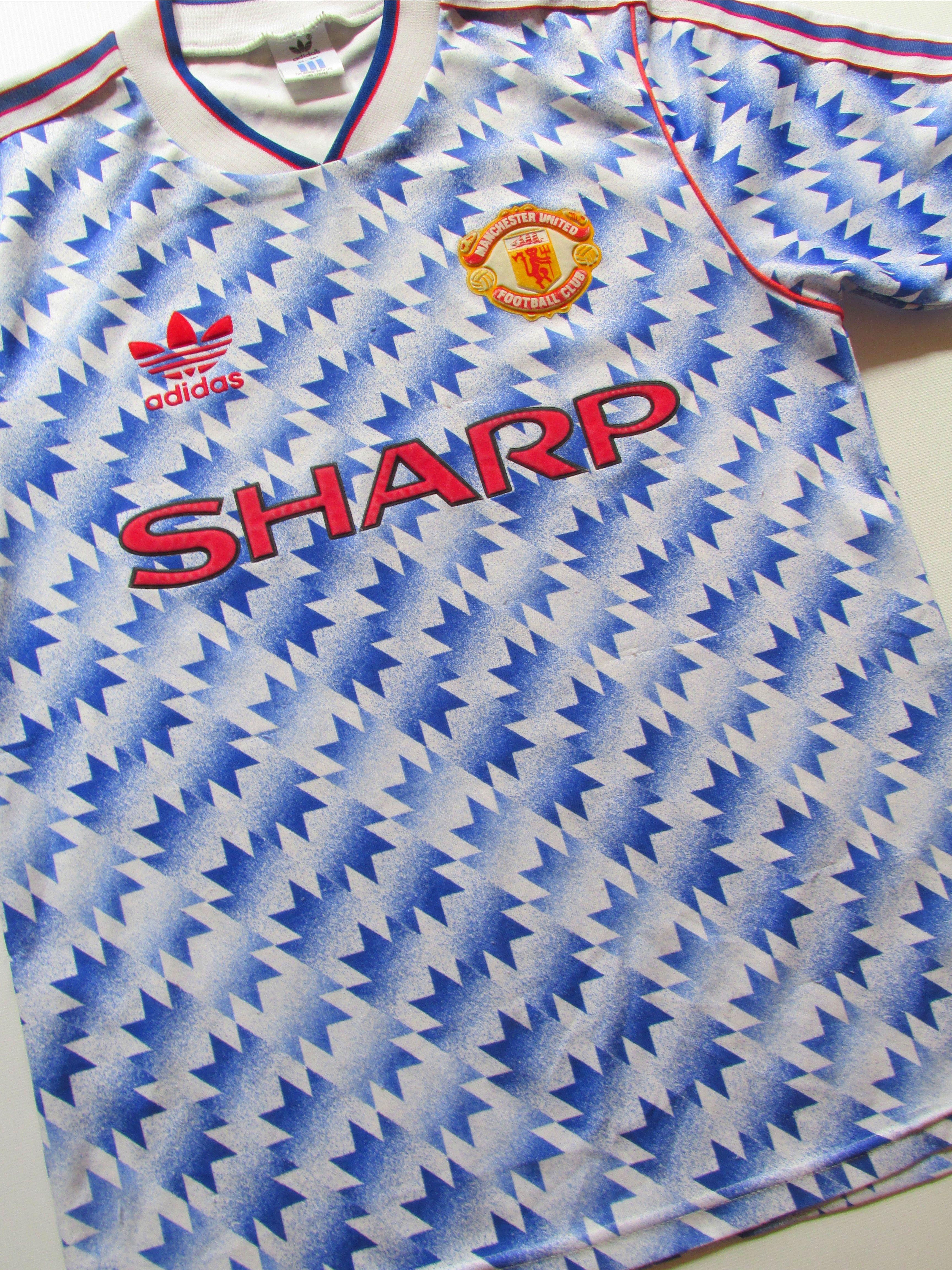 Manchester United 1990/1991/1992 away football shirt by Adidas ...