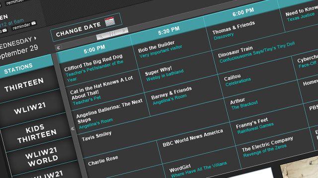 Schedule - THIRTEEN - New York Public Media | tv schedules