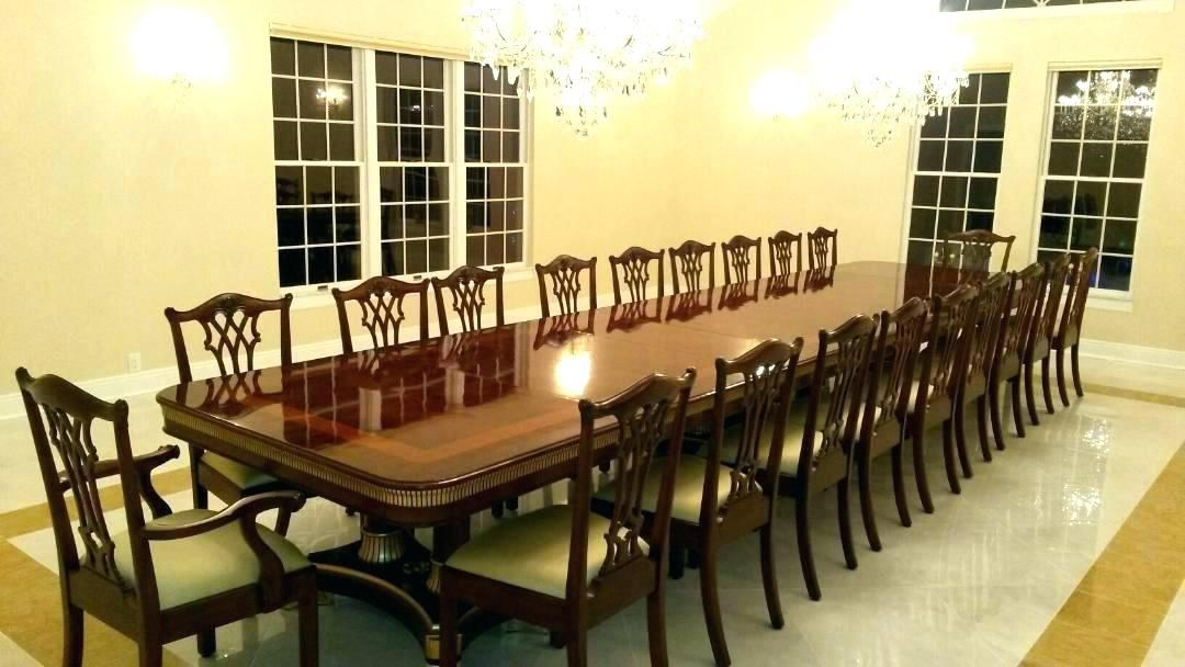 Extra Long Dining Table Seats 20 Large