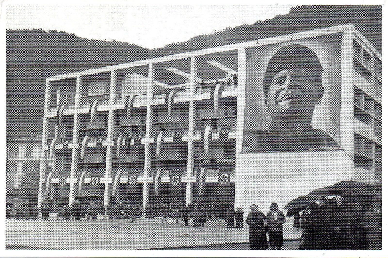 847 Ristampa Cartolina Storica 1939 Casa Del Fascio Como Centenario Terragni Fotos Fotografia Arquitectura