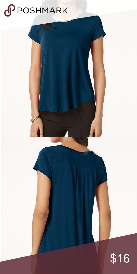 c5fc8096 Alfani Petite Satin-Trim High-Low T-Shirt Alfani's soft petite tee ...