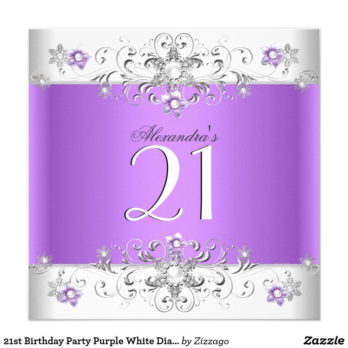 21st birthday party purple white