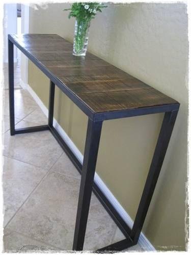 Mesa de arrime estilo industrial hierro madera y mesas - Mesas estilo industrial baratas ...