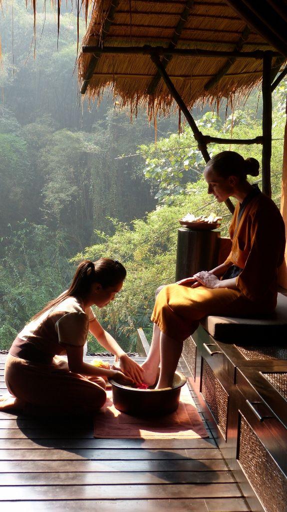 Thai Style Feet skylning og rengøring, før de sætter-9626
