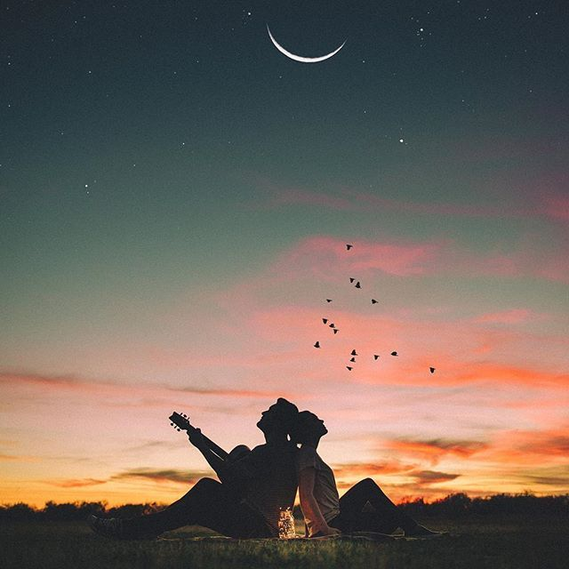 remembering sunsets spent with u. | Couple | Night sky ...