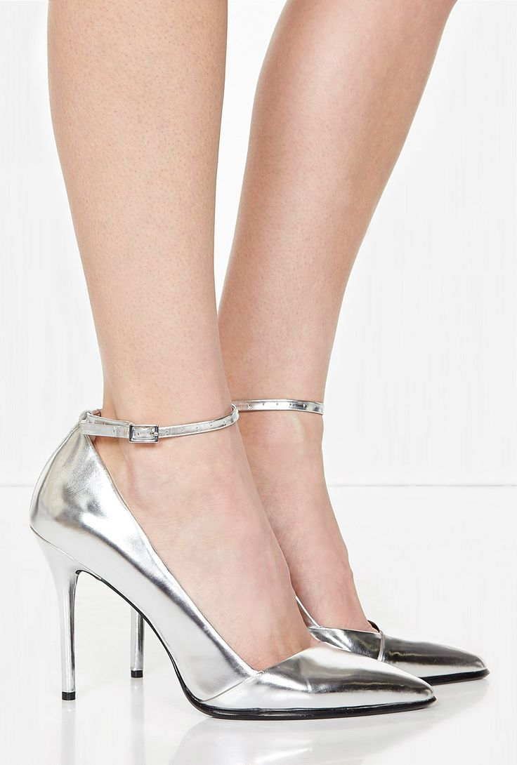 Saffi Mirror Metallic Ankle Strap Shoe