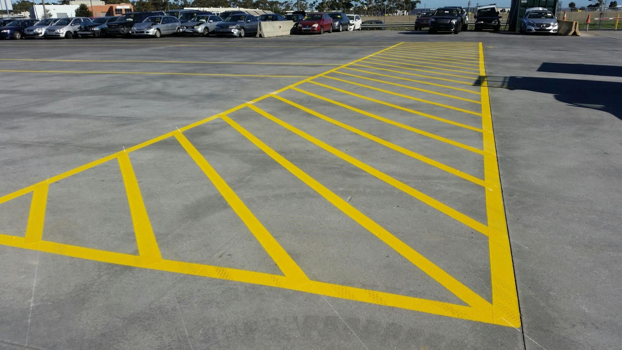 A Tip For Marking Parking Lines