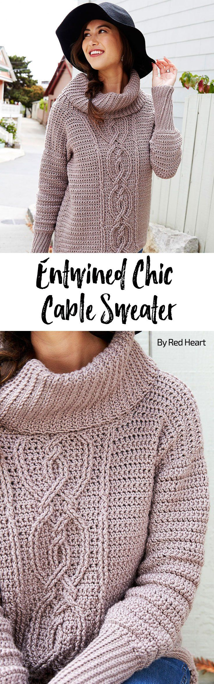 Entwined Chic Cable Sweater free crochet pattern in Chic Sheep ...