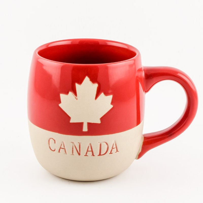 Ceramic Red Canada Mug - Drinking your morning coffee out ...