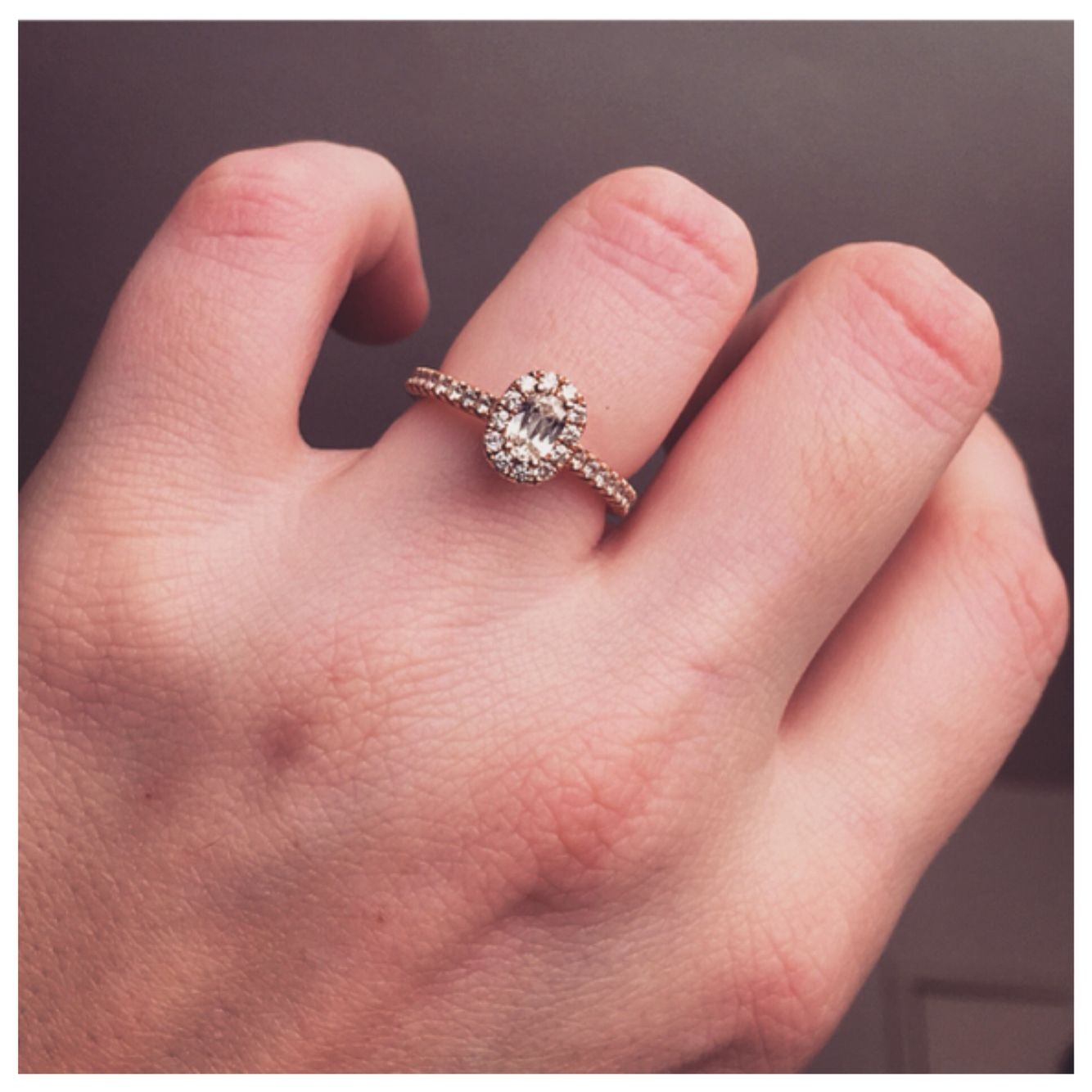 Aspiri Rose Gold Halo Cushion Cut Diamond Engagement Ring. 2/14/15<3 ...