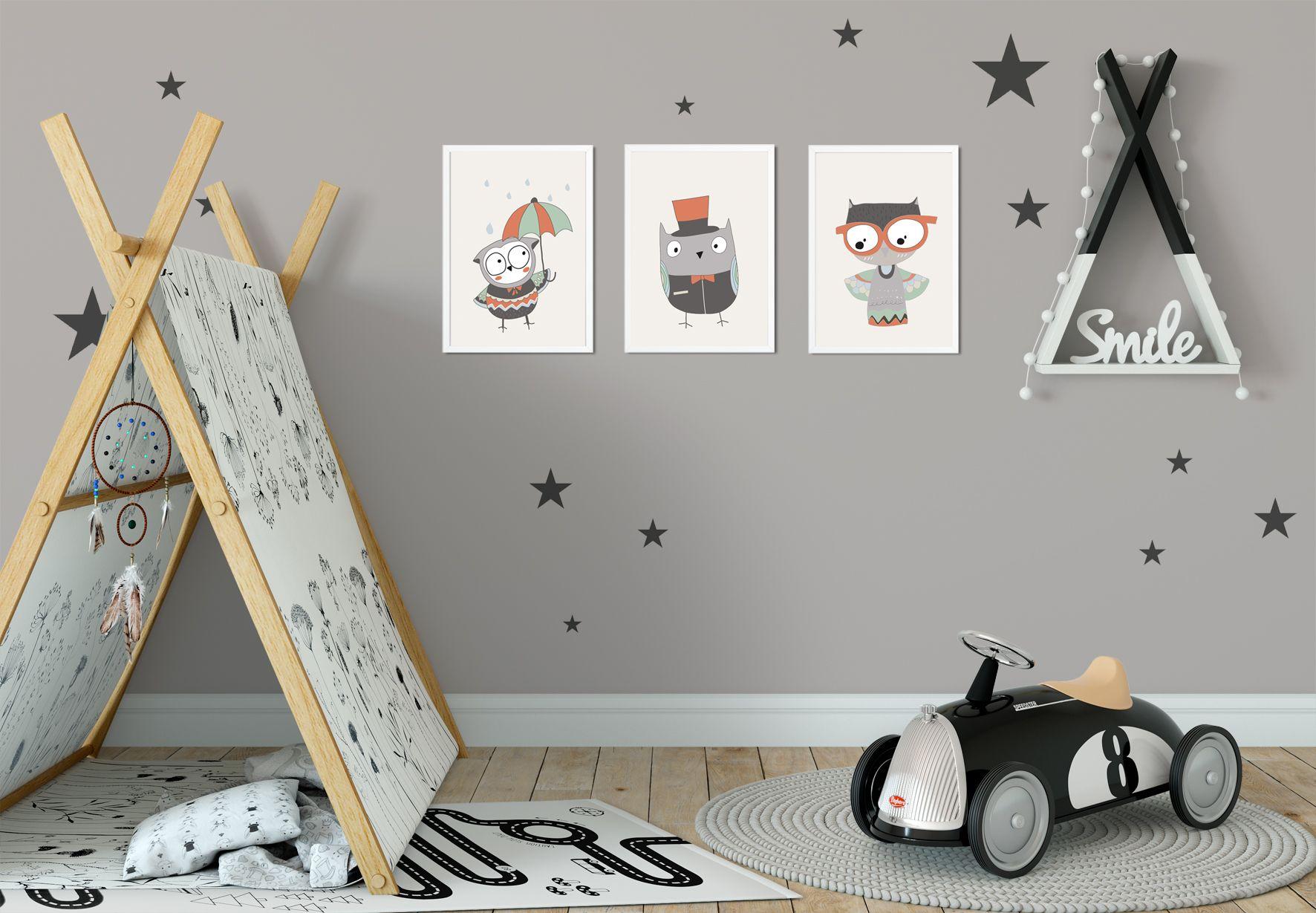 Meisjeskamer poster kinderkamer poster zwart wit nursery