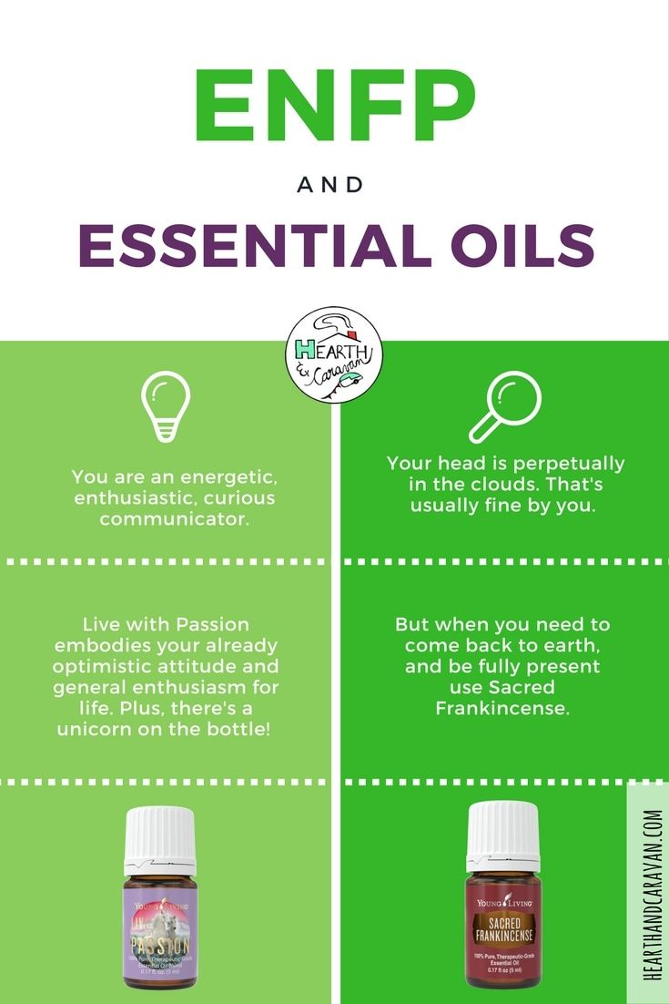 Best essential oils anxiety myers briggs personality type