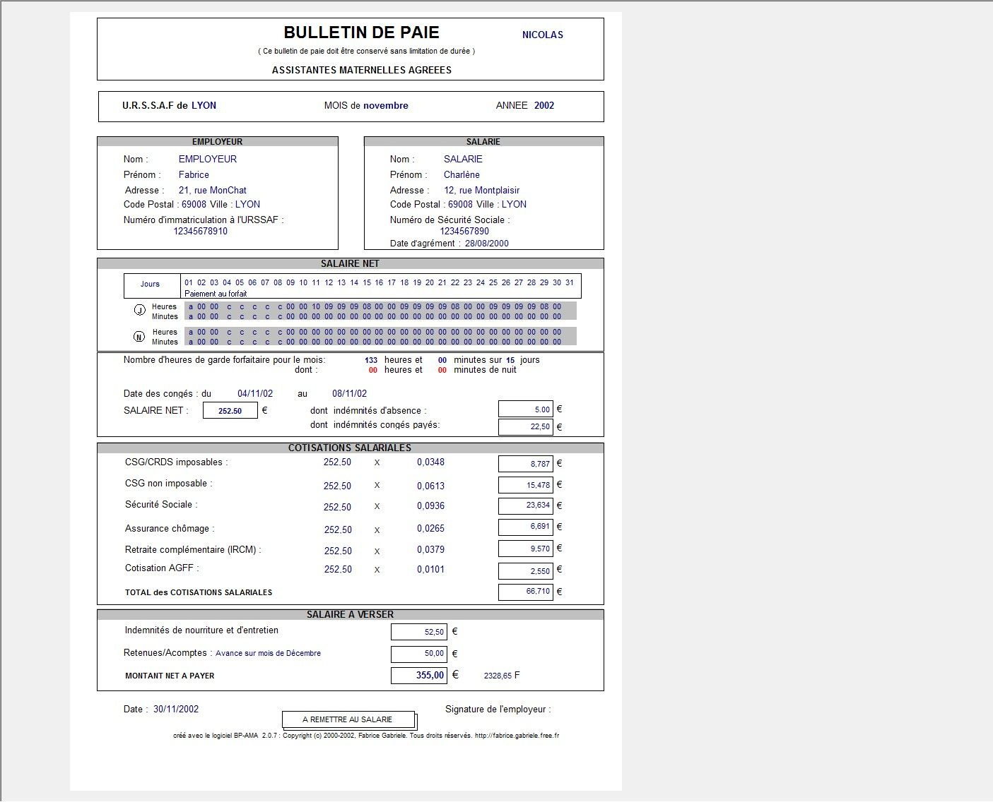 Très telecharger bulletin de salaire assistant maternelle gratuit  ZT71
