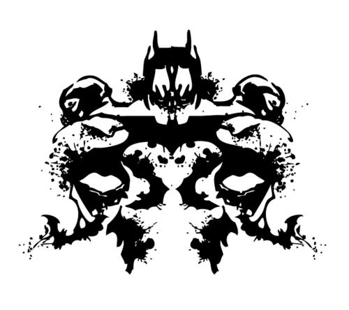 Dark Knight Rises Inkblot By TTart7