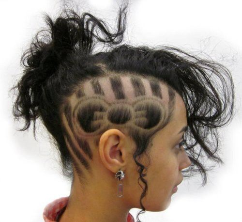 Hello Kitty Hair Tattoo Hair Designs Hair Styles Shaved Hair