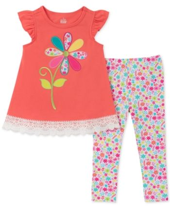 f8f8701d8 Kids Headquarters Baby Girls 2-Pc. Floral Tunic & Leggings Set - Assorted  24 months