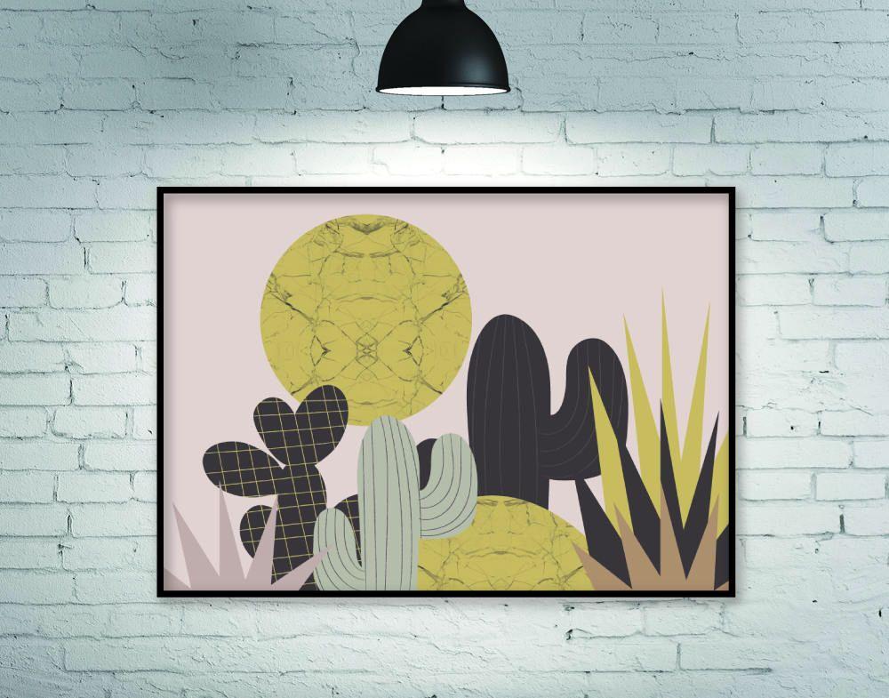 Botanical print, horizontal wall art, large wall art, botanical wall ...