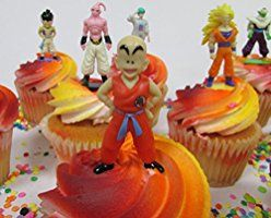 DRAGON BALL Z Themed Birthday Cupcake Topper Featuring Dragon Ball Z