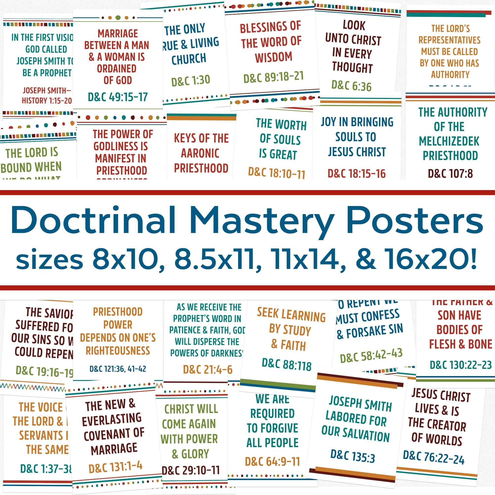 Doctrinal Mastery Posters for Doctrine & Covenants