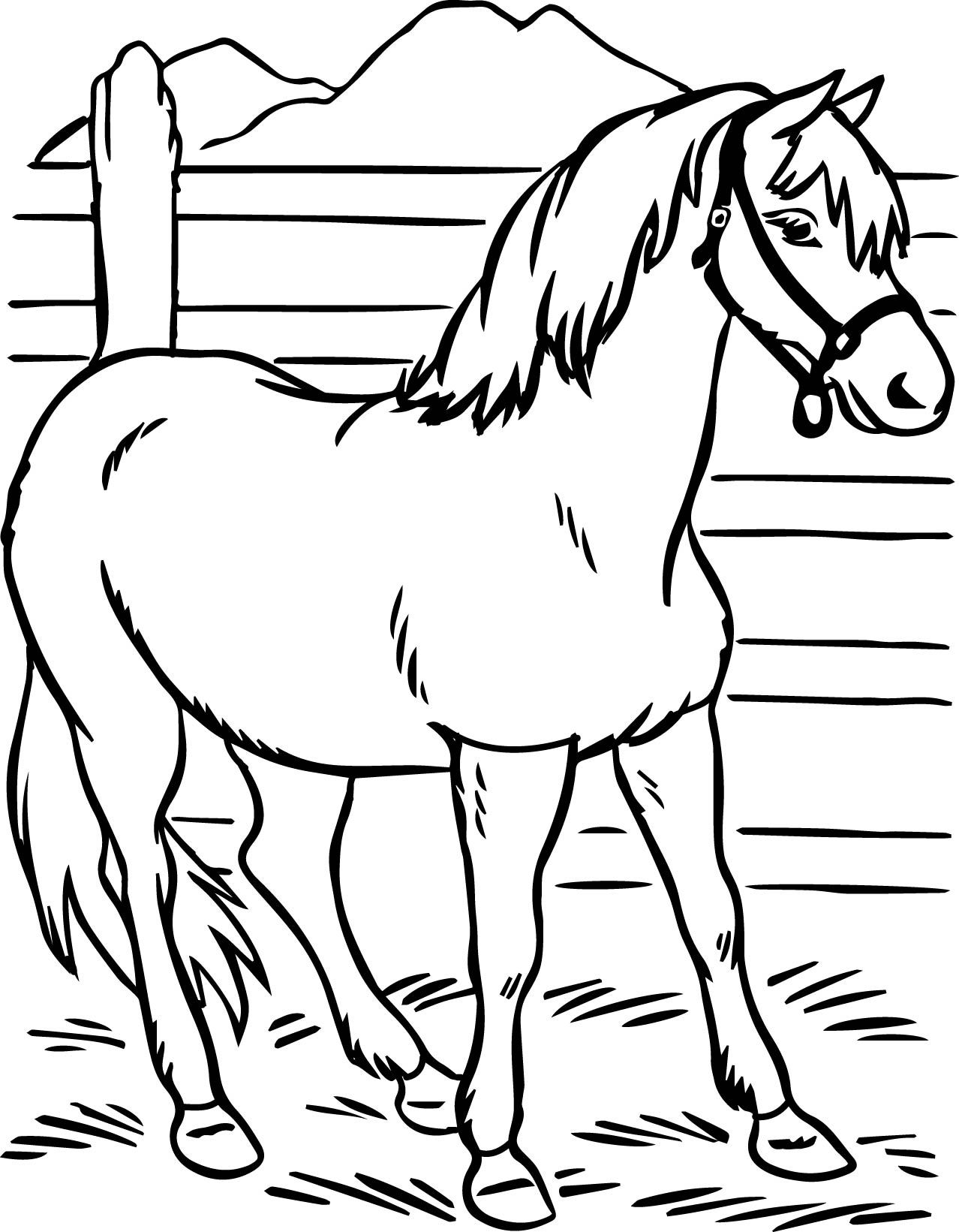 Horse Coloring Pages Preschool And Kindergarten Horse Coloring Pages Horse Coloring Books Animal Coloring Pages [ 1641 x 1278 Pixel ]