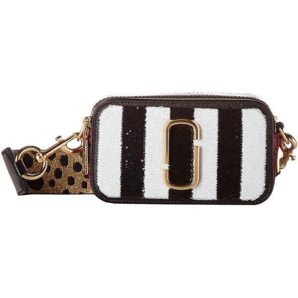 3e78d478f4be Marc Jacobs Sequin Stripes Snapshot (Black Multi) Handbags ( 425) ❤ liked  on Polyvore featuring bags