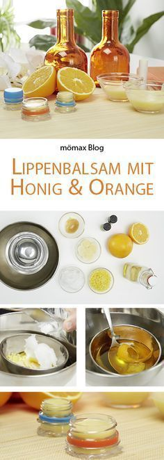 lippenbalsam mit honig und orange lippenbalsam honig. Black Bedroom Furniture Sets. Home Design Ideas