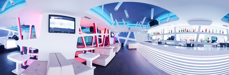 Futuristic Design Krysha Cafe By Grosu Art Studio