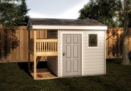 storage playhouse shed 12x8 plan - Treehouse Plans 12x8