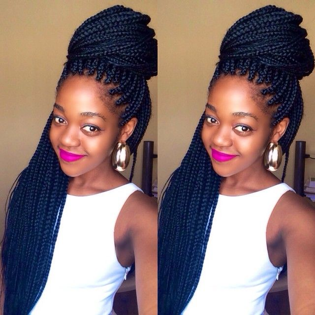 boxbraids   Natural hair styles Braids with extensions ...