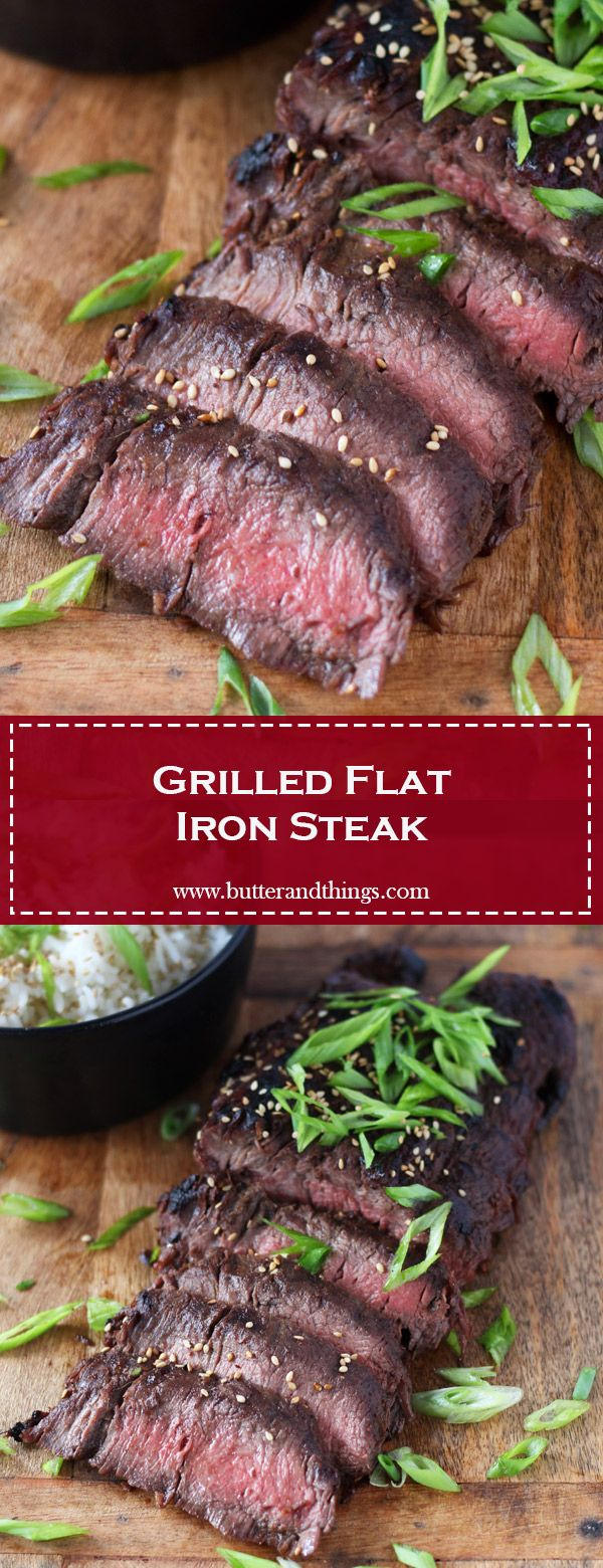 Grilled Flat Iron Steak | Butter and Things