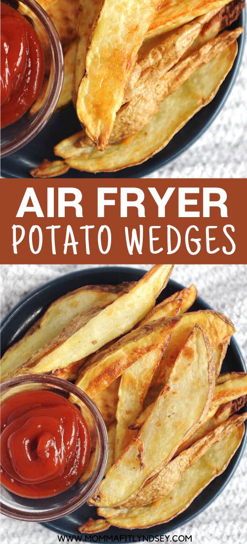 Best Crispy Air Fryer Potato Wedges. Easy to make healthy