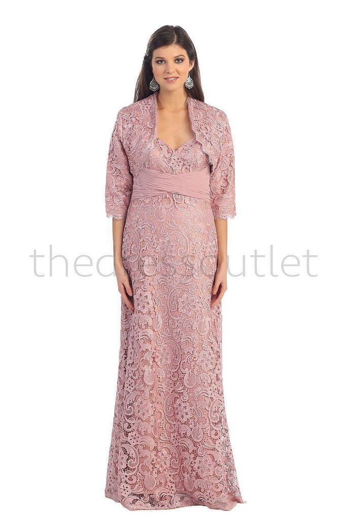 Long Formal Lace Plus Size Jacket Mother of the Bride | Formal ...