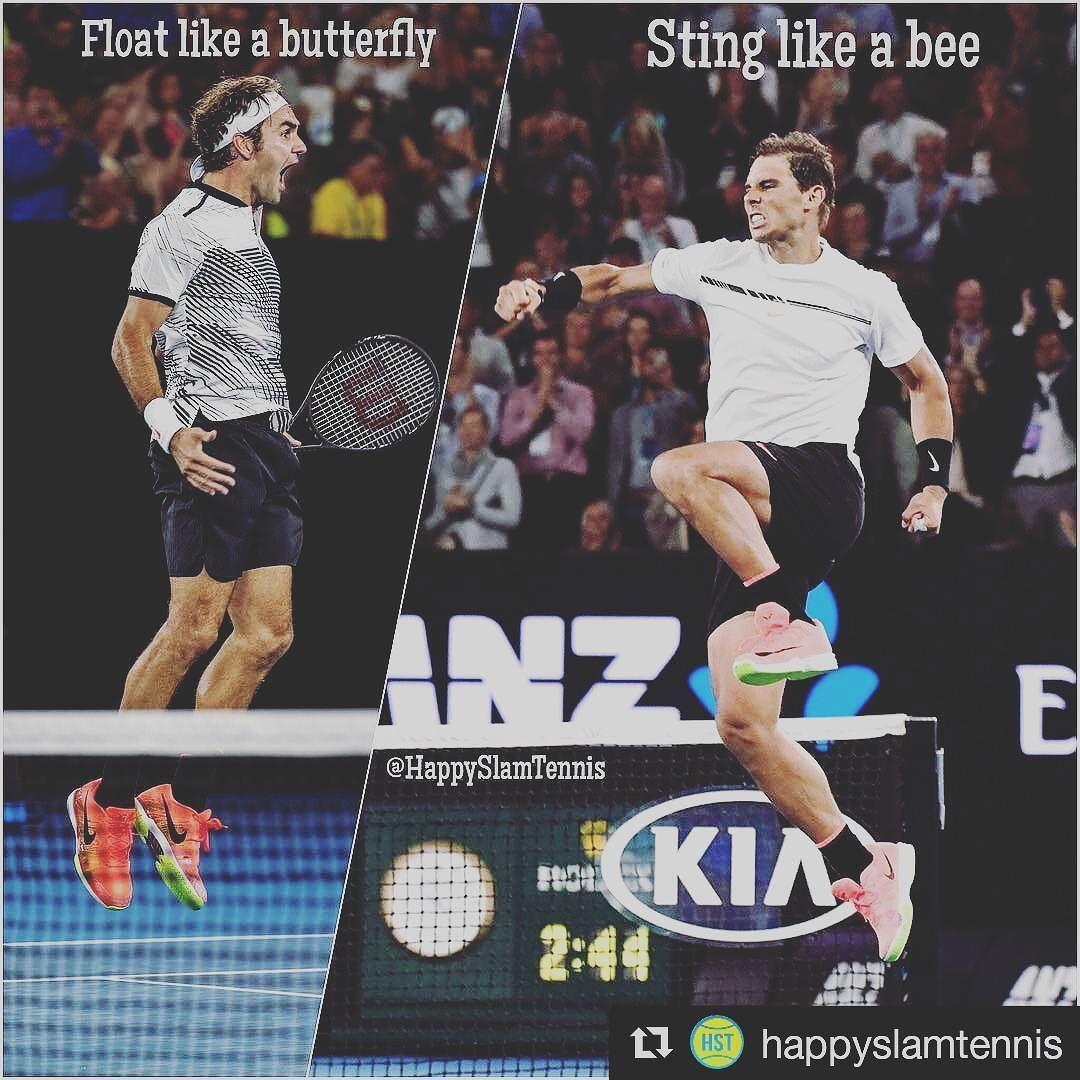 Are you team #nadal  or #federer ? OP: @happyslamtennis  #Fedal #FedalForever #AusOpen #Goats #RogerFederer #Federer #RafaNadal #Nadal #Rafatude #vamos