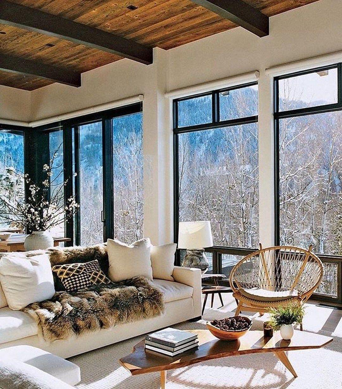 Modern Cozy Mountain Home Design Ideas (30 #mountainhomes