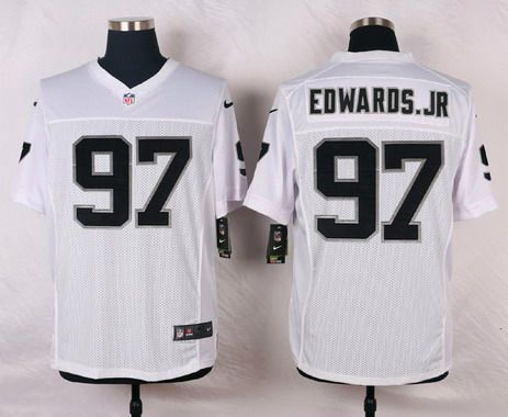 mens oakland raiders 97 mario edwards jr white road nfl nike elite jersey