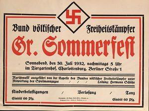 Photo of Bund völkischer Freiheitskämpfer –  Gr. Sommerfest 1932