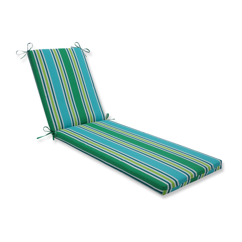 Aruba stripe turquoisegreen chaise lounge cushion 80x23x3