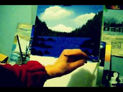▶ Acrylic Painting Lesson 5 how to paint Rocks - YouTube
