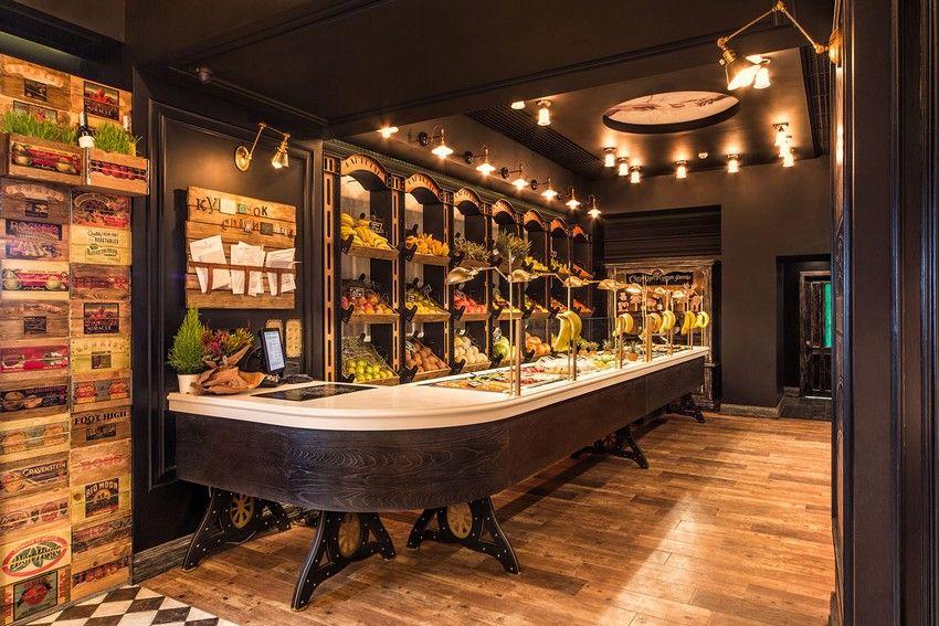 Healthy Living Promoted By Vintage Style Rambutan Fruit Studio In Kiev Freshome Com Fruit Shop Shop Interior Design Shop Interior