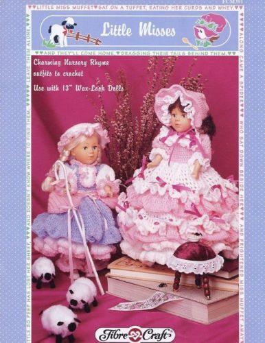 Little Misses Fibre Craft Nursery Rhyme Doll Clothes Crochet Pattern