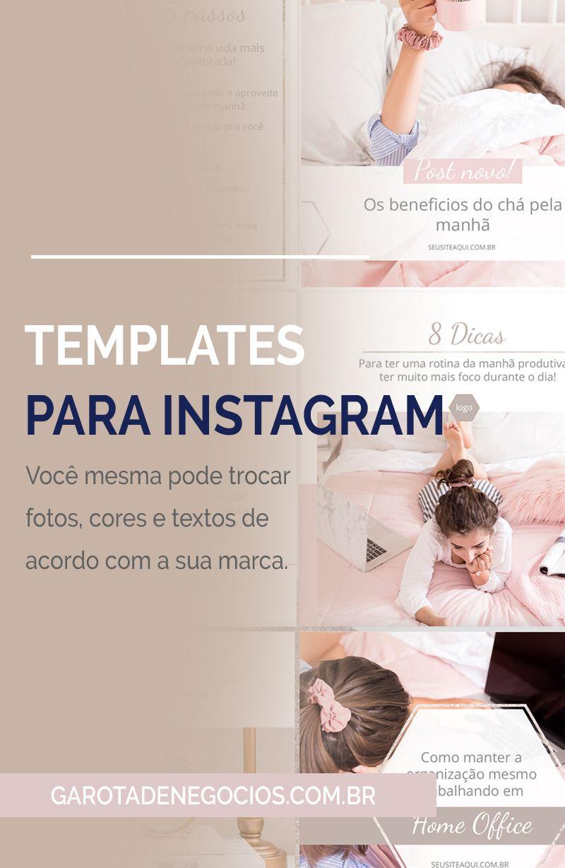 Templates Instagram Rosa Ps Instagram Instagram Blog E Redes